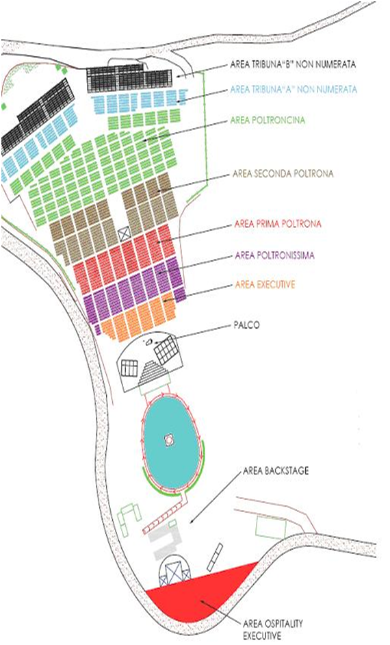 Seating chart for Andrea Bocelli at Teatro del Silenzio 2016