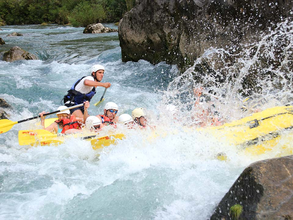 White water rafting on the Cetina River